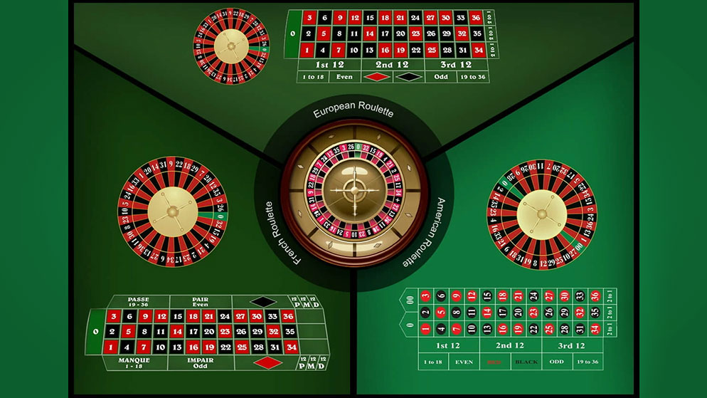 European, American, and French Roulette: Differences